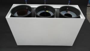 Prestige RE 120/40 mit Topf in Topf HPL Einsätze für Hydrokulturen